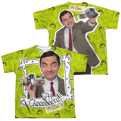 Mr. Bean Say Cheese (Front/Back Print) Youth Regular Fit Poly SS T