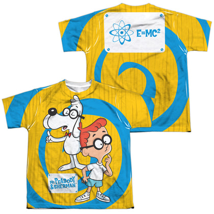 Mr. Peabody And Sherman Explanation (Front/Back Print) Youth Regular Fit Poly SS T