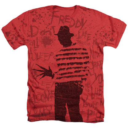 Nightmare On Elm Street Nightmares Men's 30/1 Cotton Poly SS Heather T