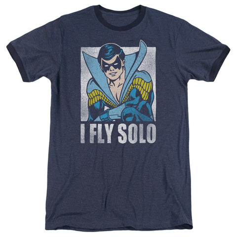 Nightwing Fly Solo Men's 30/1 Heather Ringer 50 50 Poly SS T