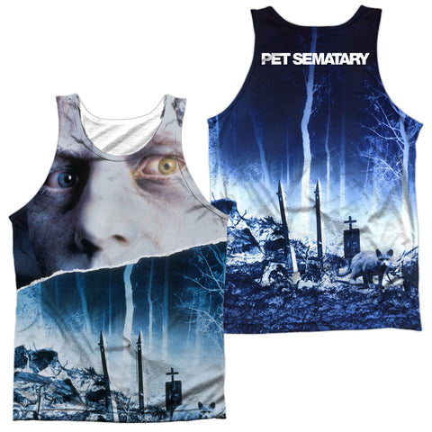 Pet Sematary Poster (Front/Back Print) Men's Regular Fit Polyester Tank Top