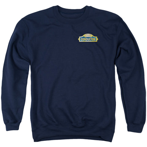 Polar Express Conductor Men's Crewneck 50 50 Poly LS T
