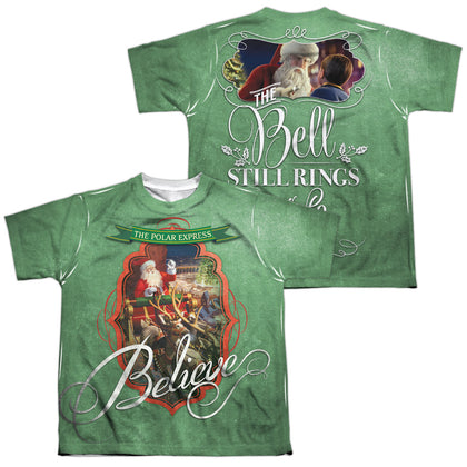 Polar Express Santa (Front/Back Print) Youth Regular Fit Poly SS T