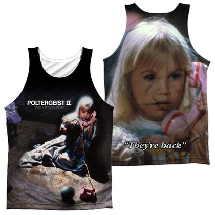 Poltergeist Poster (Front/Back Print) Men's Regular Fit Polyester Tank Top