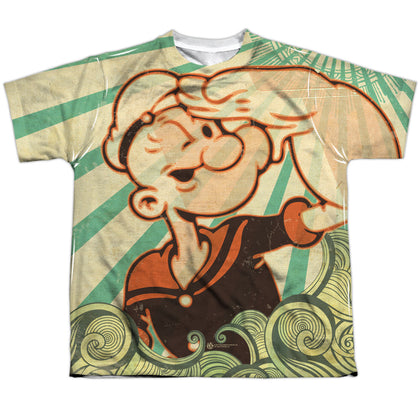 Popeye Traveling Man Youth Regular Fit Poly SS T