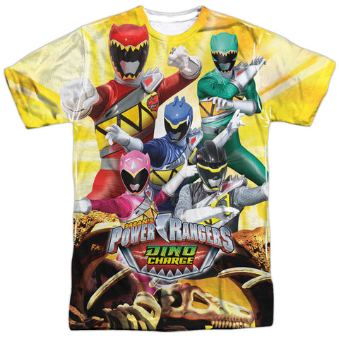 Power Rangers Charged For Battle Men's Regular Fit Polyester SS T