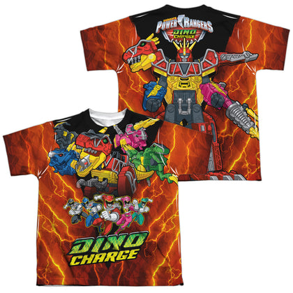Power Rangers Zord Power (Front/Back Print) Youth Regular Fit Poly SS T