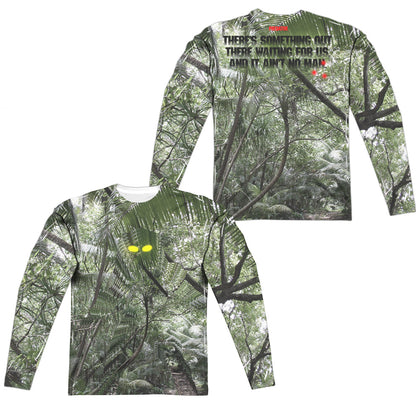 Predator Yellow Eyes (Front/Back Print) Men's Regular Fit Polyester LS T