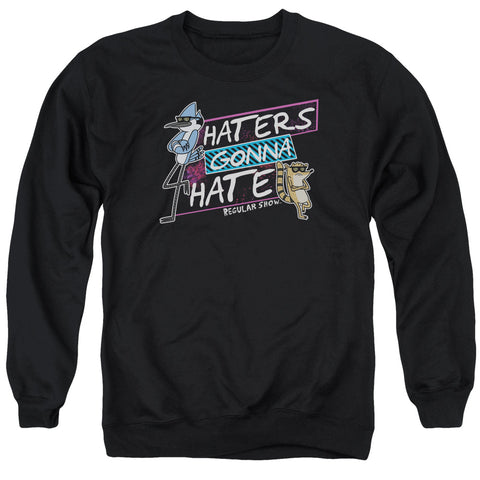 Regular Show Haters Gonna Hate Men's Crewneck 50 50 Poly LS T