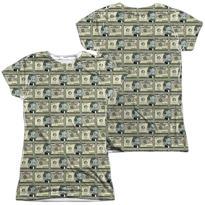 Richie Rich Millions (Front/Back Print) Junior's Poly Cap-Sleeve T