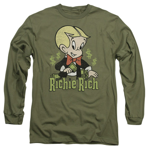 Richie Rich Rich Logo Men's 18/1 Cotton LS T