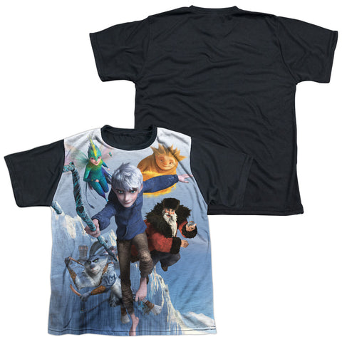Rise Of The Guardians Together Now Youth Black Back Poly Regular Fit SS T