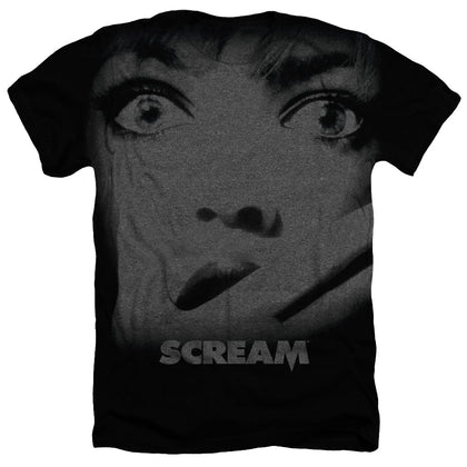 Scream Poster Men's 30/1 Cotton Poly SS Heather T