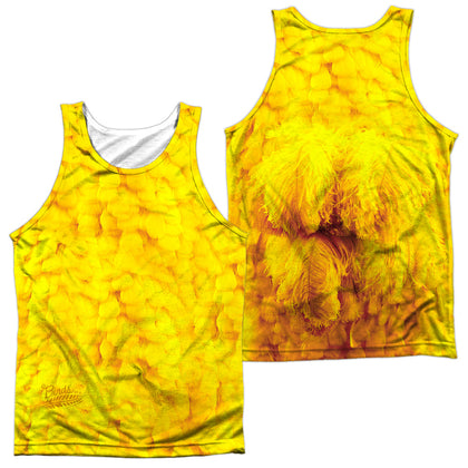 Sesame Street Big Bird Costume (Front/Back Print) Men's Regular Fit Polyester Tank Top