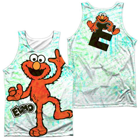 Sesame Street Elmo Scribble (Front/Back Print) Men's Regular Fit Polyester Tank Top