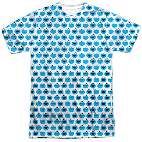 Sesame Street Simple Cookie Pattern Men's Regular Fit Polyester SS T
