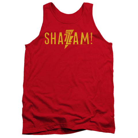 Shazam Movie Flat Logo Men's 18/1 Cotton Tank Top