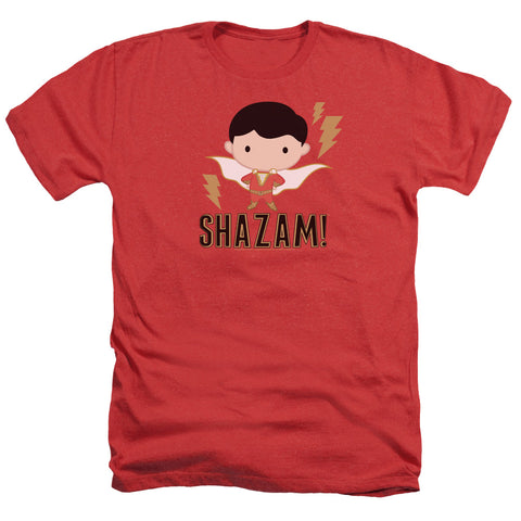 Shazam Movie Shazam Chibi Men's 30/1 Heather 60 40 Poly SS T