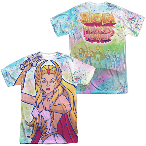 She-Ra Title (Front/Back Print) Men's Regular Fit Polyester SS T