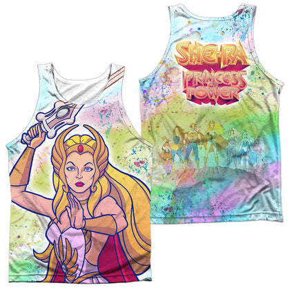 She-Ra Title (Front/Back Print) Men's Regular Fit Polyester Tank Top