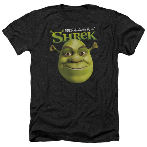 Shrek Authentic Men's 30/1 Heather 60 40 Poly SS T