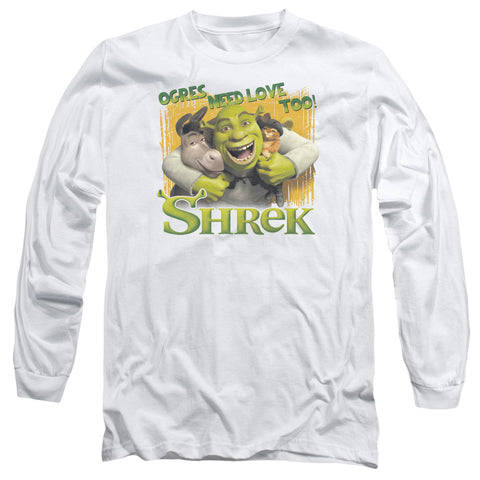 Shrek Ogres Need Love Men's 18/1 Cotton LS T