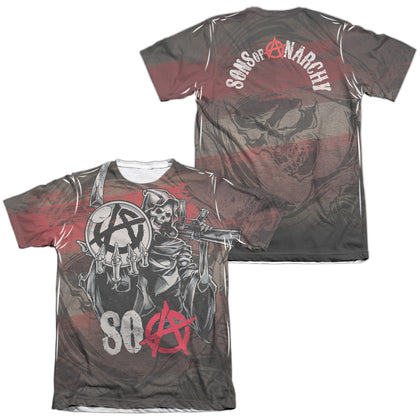 Sons Of Anarchy Reaper Ball (Front/Back Print) Men's Regular Fit Poly Cotton SS T