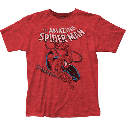 Spider-Man Spidey Swinging fitted jersey tee - Men's - 65% Poly 35% Cotton
