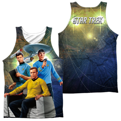 Star Trek Kirk Spock Mccoy Men's Regular Fit Polyester Tank Top