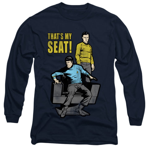 Star Trek My Seat Men's 18/1 Cotton LS T