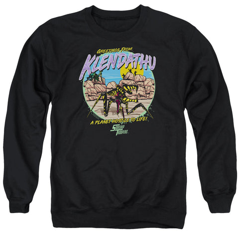 Starship Troopers Hostile Planet Men's Crewneck 50 50 Poly LS T