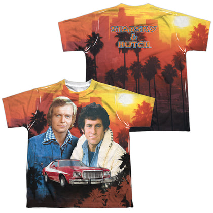 Starsky And Hutch Skyline (Front/Back Print) Youth Regular Fit Poly SS T