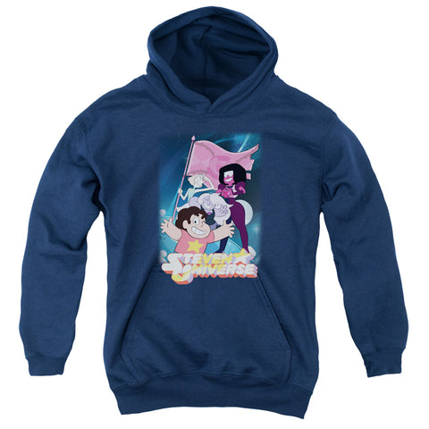 Steven Universe Crystal Gem Flag Youth Cotton Poly Pull-Over Hoodie