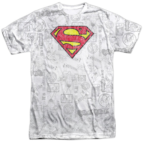 Superman Comics Classic Repeat Men's Regular Fit Polyester SS T