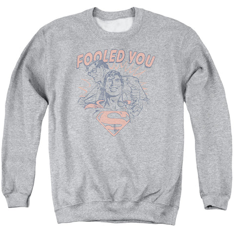 Superman Fooled You Men's Crewneck 50 50 Poly LS T