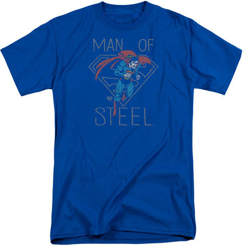 Superman Hardened Heart Men's 18/1 Tall Cotton SS T