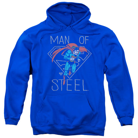 Superman Hardened Heart Men's Pull-Over 75 25 Poly Hoodie