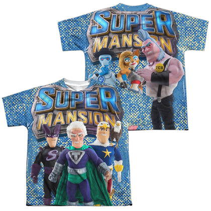 Supermansion League Of Freedom (Front/Back Print) Youth Regular Fit Poly SS T