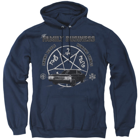 Supernatural Saving People And Hunting Men's Pull-Over 75 25 Poly Hoodie