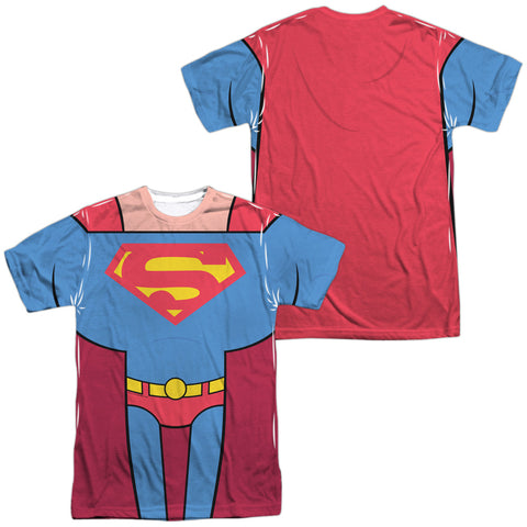 Teen Titans Go Superman Uniform (Front/Back Print) Men's Regular Fit Polyester SS T