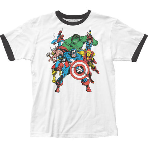 The Avengers fitted men's jersey tee