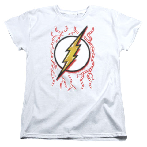 The Flash Airbrush Bolt Women's 18/1 Cotton SS T