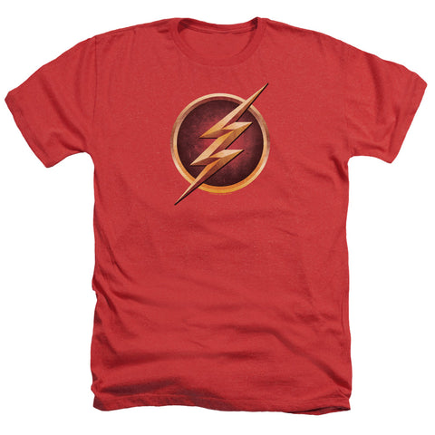 The Flash Chest Logo Men's 30/1 Heather 60 40 Poly SS T