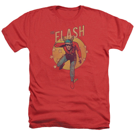 The Flash Circle & Stars Men's 30/1 Heather 60 40 Poly SS T