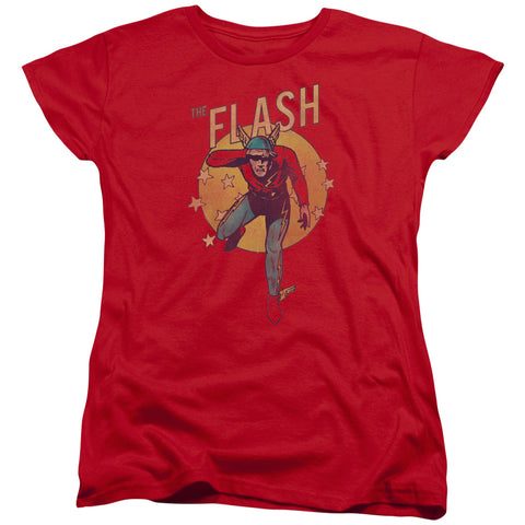 The Flash Circle & Stars Women's 18/1 Cotton SS T