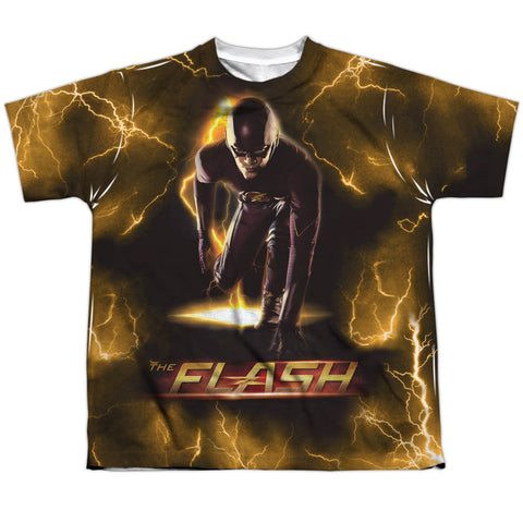 The Flash Comics Bolt Youth Regular Fit Poly SS T