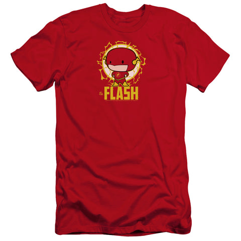 The Flash Flash Chibi Men's Ultra-Soft 30/1 Cotton Slim SS T