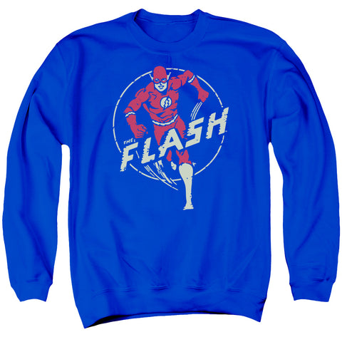 The Flash Flash Comics Men's Crewneck 50 50 Poly LS T