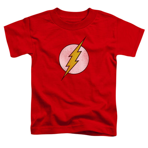 The Flash Flash Logo Distressed Toddler 18/1 Cotton SS T
