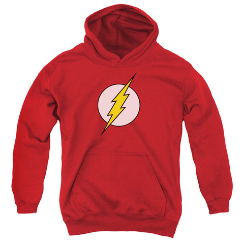 The Flash Flash Logo Youth Cotton Poly Pull-Over Hoodie